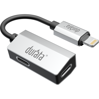 Durata 2-1 Charge + Audio Cable for Lightning (2 lightning slot) DR-L11