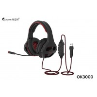 Gaming Headset Akorn OK3000 with microphone (blue+ black)
