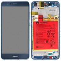Huawei P10 Lite 02351FSL (WAS-L21) OEM Service Part Screen Incl. Battery 3000mAh - Blue
