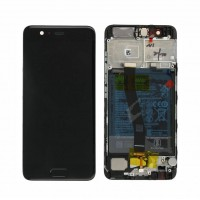 Huawei P10 (VTR-L09 / VTR-L29) 02351DGP OEM Service Part Screen Incl. Battery - Black