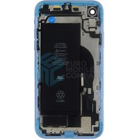 iPhone XR Middle Frame OEM Pulled (A) Complete With Parts & Battery - Blue