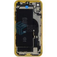 iPhone XR Middle Frame OEM Pulled (A) Complete With Parts & Battery - Yellow