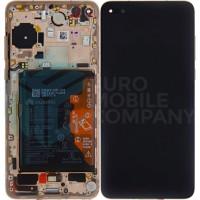 Huawei P40 (ANA-NX9) OEM Service Part Screen Incl. Battery (02353MFV) -  Blush Gold