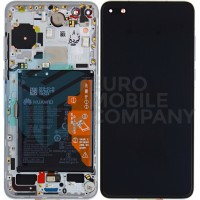 Huawei P40 (ANA-NX9) OEM Service Part Screen Incl. Battery (02353MFW) - Ice White