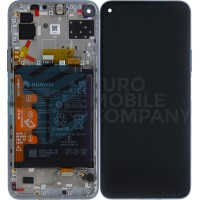 Huawei P40 Lite 5G (CDY-NX9A) OEM Service Part Screen Incl. Battery (02353SUQ) - Silver