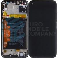 Huawei P40 Lite (JNY-LX1) OEM Service Part Screen Incl. Battery (02353KFU) - Black