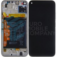 Huawei P40 Lite (JNY-LX1) OEM Service Part Screen Incl. Battery (02353KFV) - Breathing Crystal