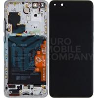 Huawei P40 Pro (ELS-NX9) OEM Service Part Screen Incl. Battery (02353PJK) - Ice White