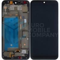 LG Q60 Display + Digitizer Complete With Frame - Black