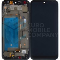 LG Q60 LCD + Digitizer Complete With Frame - Black