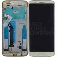 Motorola Moto G6 Play Display + Digitizer + Frame (5D68C10051) - Fine Gold