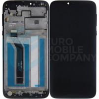 Motorola Moto G7 Power Display Complete + Frame (5D68C13152) - Ceramic Black
