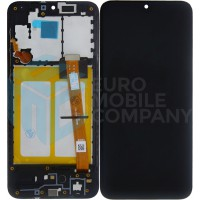 Samsung Galaxy A20e (SM-A202F) OEM LCD With Frame, Replacement Glass  - Black