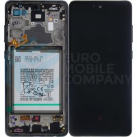 Samsung Galaxy A72 4G/5G 2021 SM-A725/A726 ( GH82-25541A/GH82-25542A) Display Complete With Battery - Awesome Black
