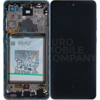 Samsung Galaxy A72 4G/5G 2021 SM-A725/A726 (GH82-25542B/GH82-25541B) Display Complete With Battery - Awesome Blue