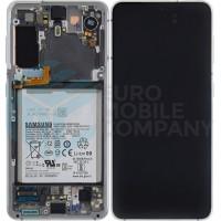Samsung Galaxy S21 SM-G991B (GH82-24716C) Display Complete With Battery - Phantom White