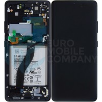 Samsung Galaxy S21 Ultra SM-G998B (GH82-24925A) Display Complete With Battery - Phantom Black