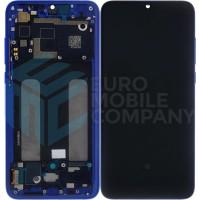 Xiaomi Mi 9 Lite LCD + Touchscreen + Frame (OEM) - Blue