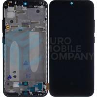 Xiaomi Mi A3 Display + Digitizer With Frame (5606101260B6) - Black