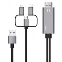 Onten Lightning/ USB-C/ microUSB To HDMI Cable 1.8M OTN-7537A