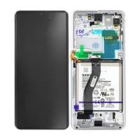 Samsung Galaxy S21 Ultra SM-G998B (GH82-24591B) Display Complete With Battery - Phantom Silver