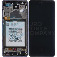 Samsung Galaxy A72 4G/5G 2021 SM-A725/A726 (GH82-25542C/GH82-25541C) Display Complete With Battery - Awesome violet