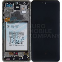 Samsung Galaxy A72 4G/5G 2021 SM-A725/A726 (GH82-25542D/GH82-25541D) Display Complete With Battery - Awesome White