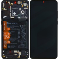Huawei P30 OEM Service Part Screen Incl. Battery (02354HLT) - Black