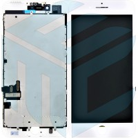 iPhone 7 Display + Digitizer + Metal Plate, In-cell Quality - White