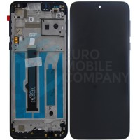 Motorola One Macro Display + Digitizer + Frame (5D68C15386) - Black