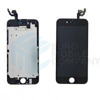 iPhone 6 Display + Digitizer + Metal Plate High Quality - Black