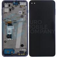 Motorola Moto G 5G Plus Display Complete + Frame (5D68C17494) - Azury Blue