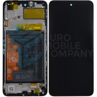 Huawei P smart 2021 (PPA-L22B) EM Service Part Screen Incl. Battery 02354ADC - Black
