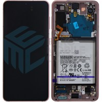 Samsung Galaxy S21 SM-G991B (GH82-24716D) Display Complete With Battery - Phantom Pink