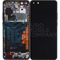 Huawei P40 Pro (ELS-NX9) OEM Service Part Screen Incl. Battery (02353PJG) - Black
