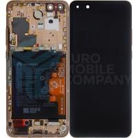 Huawei P40 Pro (ELS-NX9) OEM Service Part Screen Incl. Battery (02353PJL) - Blush Gold