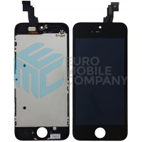 iPhone 5C Display + Digitizer, +Metal Plate A+ High Quality - Black