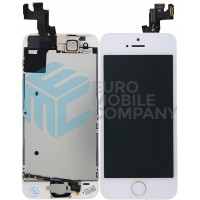 iPhone 5S Display + Digitizer, Pre Assembled A+ High Quality - White