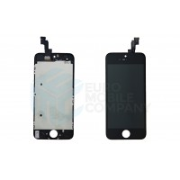 iPhone 5S/SE Display + Digitizer, +Metal Plate A+ High Quality - Black