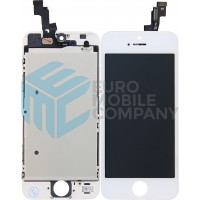 iPhone 5S/SE Display + Digitizer, +Metal Plate A+ High Quality - White
