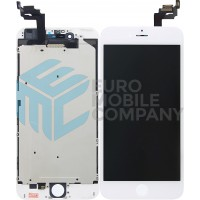 iPhone 6 Plus LCD + Digitizer + Metal Plate, Complete OEM Replacement Glass - White