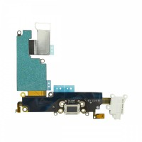 iPhone 6 Plus Dock Port + Audio Connector Flex - White