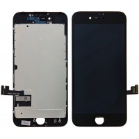 iPhone 7 Display + Digitizer, + Metal Plate High Quality - Black