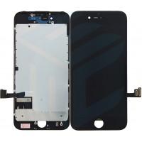iPhone 7 Display + Touchscreen + Metal Plate, Full OEM - Black