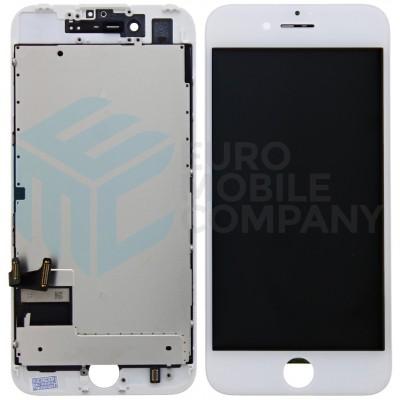 iPhone 7 Display + Touchscreen + Metal Plate, Full OEM - White
