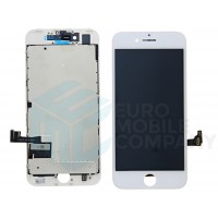 iPhone 7 Display + Touchscreen, +Metal Plate High Quality - White