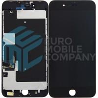 iPhone 8 PLUS (LG) (DTP/C3F) Display+Digitizer + Metal Plate Complete, OEM Replacement Glass - Black