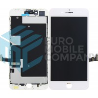 iPhone 8 PLUS (LG) (DTP/C3F) Display+Digitizer + Metal Plate Complete, OEM Replacement Glass - White