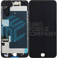 iPhone 8 PLUS (Toshiba) (C11/F7C) LCD+Digitizer + Metal Plate Complete, OEM Replacement Glass - Black