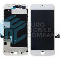 iPhone 8 PLUS (Toshiba) (C11/F7C) Display+Digitizer + Metal Plate Complete, OEM Replacement Glass - White